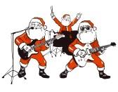 15472426-pere-noel-rock-band